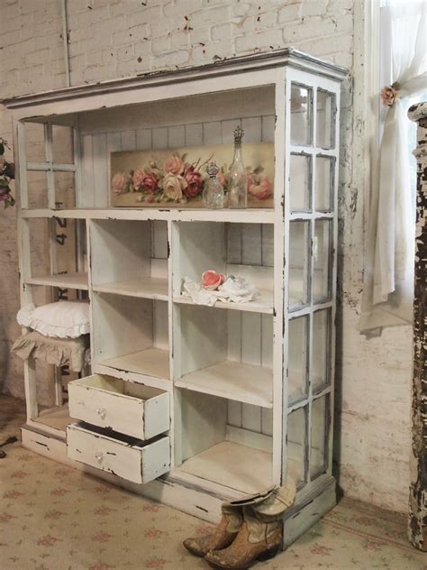 shabby chic cabinet painted cottage chic shabby cape cod farmhouse cabinet