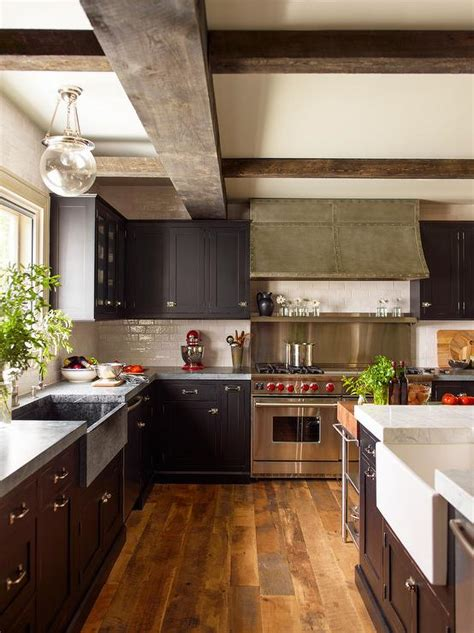 photos of black kitchen cabinets black kitchen cabinets with concrete countertops