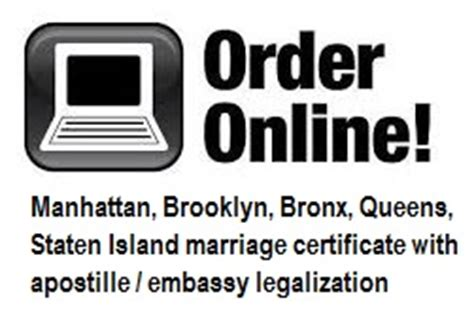 Bronx Marriage Records New York Marriage Certificates For Foreign Use