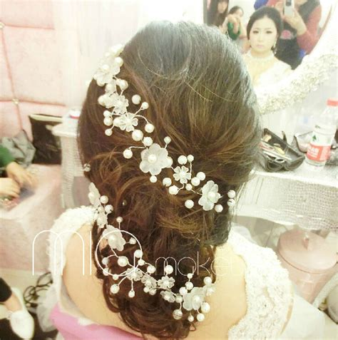 Hair Accessories Handmade - 2pcs lot pearl beaded handmade bridal hair ornament