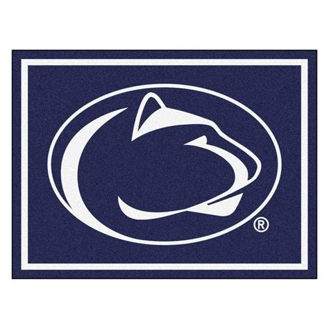 penn state area rug fanmats ncaa penn state black 8 ft x 10 ft indoor area rug 17537 the home depot