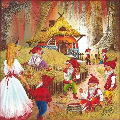 painting snow white snow white and the seven dwarfs painting by ewa