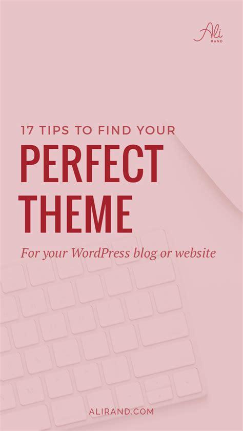 themes 17 tips to choose a theme ali rand