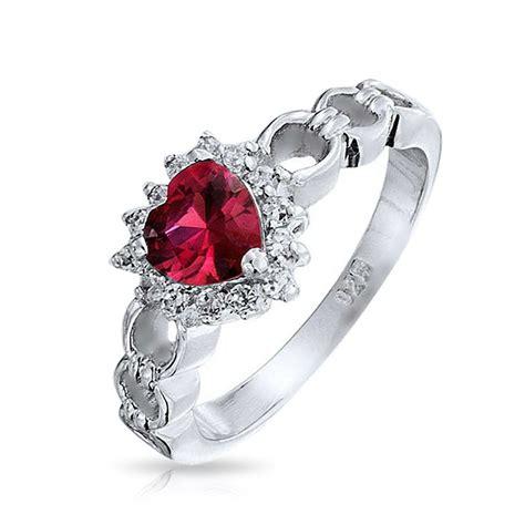 Garnet Sterling Silver Ring garnet color cz sterling silver links ring