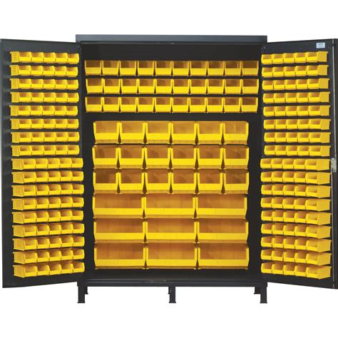 Quantum Storage Cabinet Quantum Storage Cabinet With 227 Bins 60in X 24in X 84in Size Northern Tool Equipment