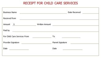 end of year daycare receipt template babysitting tax