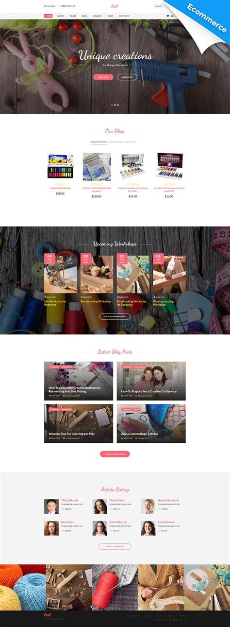 Shop Handmade Reviews - creative joomla virtuemart ecommerce template