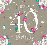 Image result for happy 40th birthday