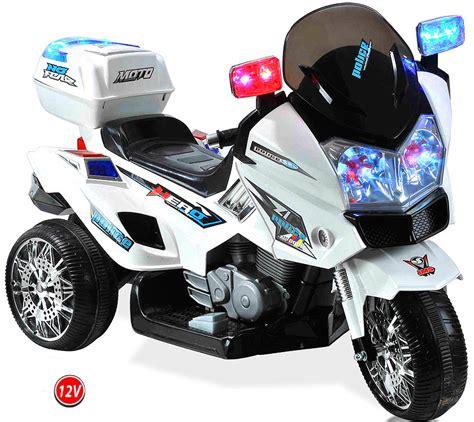 Elektro Motorrad Kinder by 12v Polizei Elektro Motorrad Kindermotorrad Roller