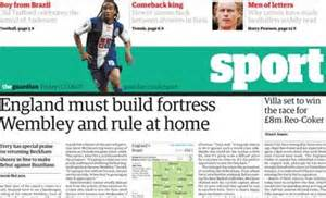 guardian to cut daily standalone sport section media news
