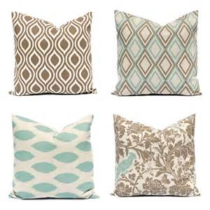 Cushion Covers For Sofa Pillows Pillow Covers Sofa Pillows Seafoam Green Pillows Brown Pillows Throw Pillow Cover
