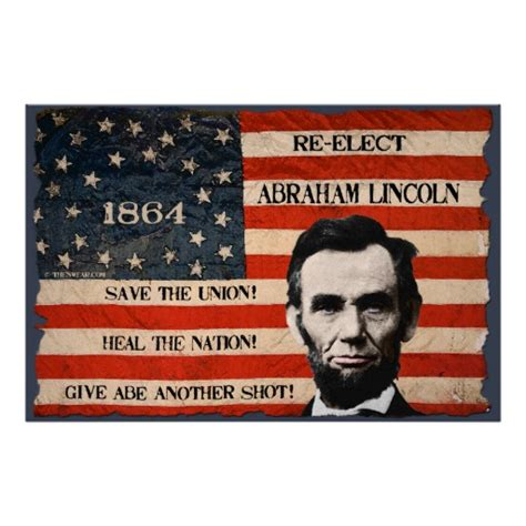 abraham lincoln 1864 election caign wall poster zazzle