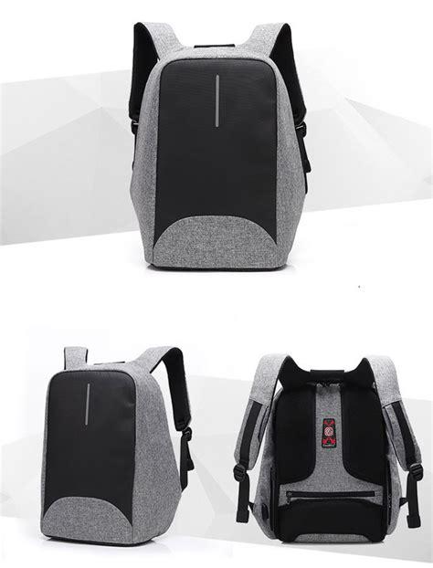 Tas Ransel Laptop Keren Black tas ransel laptop dengan usb charger port black