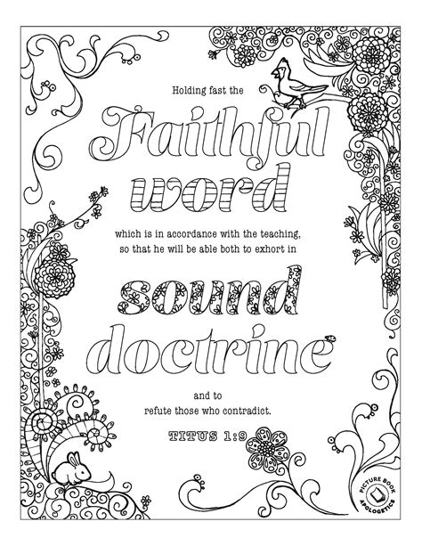 Colossians 3 Coloring Page by Free Titus 1 9 Colossians 4 5 6 1 3 15 Coloring
