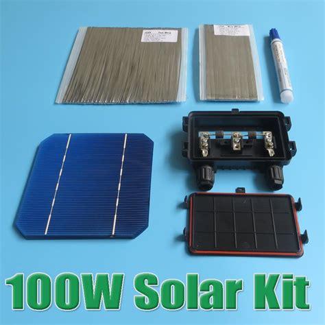 solar panel diy kit sale 100w diy solar panel kit 5x5 125 monocrystalline 100watt mono solar cell tab wire