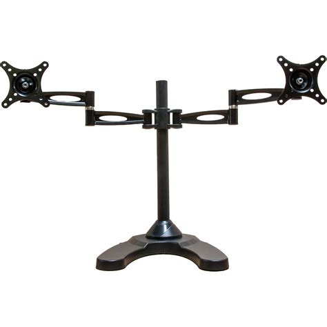 Table Mount Dual Arm Tv Bracket 100 X 100 Pitch For 15 27 Inch Tv mount it dual arm freestanding monitor stand mi 792 b h photo