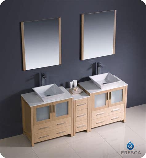 Bathroom Vanity Side Lights Fresca Fvn62 301230lo Vsl Torino 72 Quot Sink Modern Bathroom Vanity With Side Cabinet And