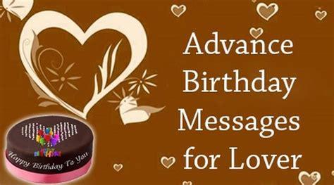 Advance Happy Birthday Wishes Sms Advance Birthday Messages For Lover Happy Birthday Wishes