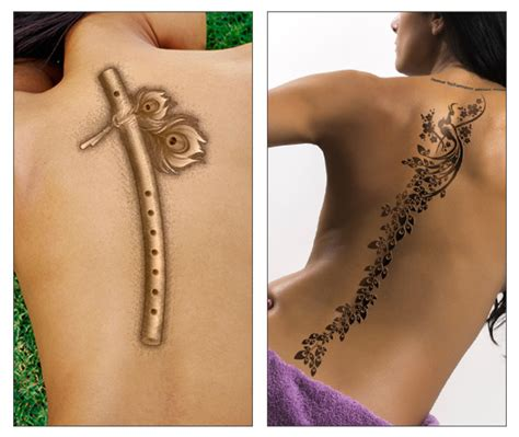 pin flute tattoos on