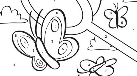 butterfly coloring pages with numbers color by number butterfly az coloring pages