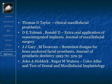 Cd E Book The Journal Of Prosthetic Dentistry implants in maxillofacial prosthesis endodontic courses
