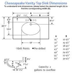bathroom sink sizes bathroom sink dimensions