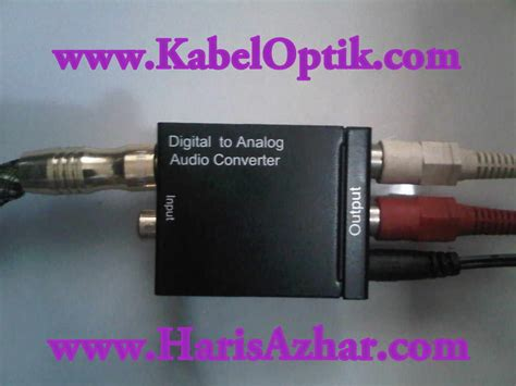 Harga Rca Out kabel optik audio optical audio cable converter