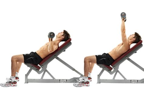incline db bench press work those push muscles chest and triceps workout
