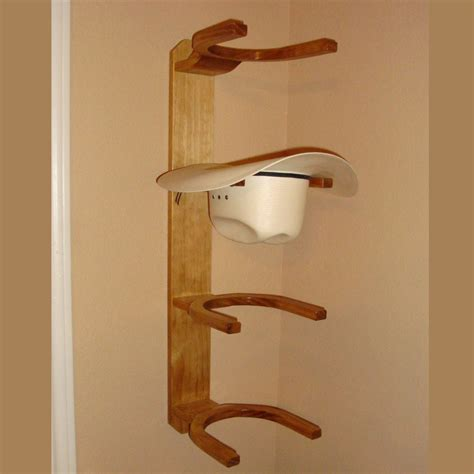Hat Rack Wall Mount by Wooden Cowboy Western Hat Rack 4 Hook Horizontal Wall Mount