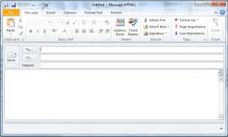 blank email template make your outlook email messages un ignorable