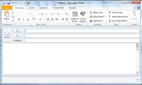 how to open an email template in outlook 2010 make your outlook email messages un ignorable