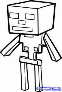Minecraft Character Drawing Template by How To Draw A Minecraft Skeleton Minecraft Skeleton Step