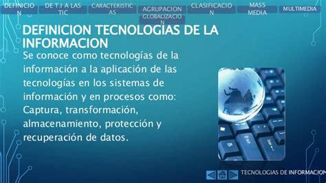 aplicacion de la tecnologia y la informacion la sistemas de informacion y tecnologias de la informacion