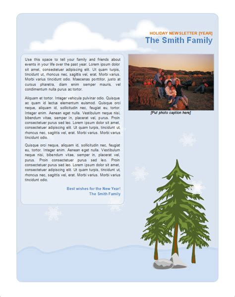 9 holiday newsletter templates free word documents