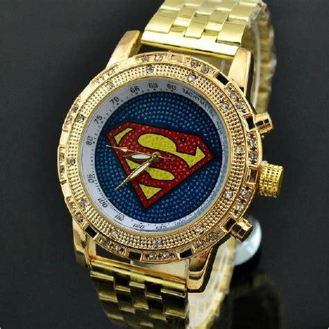 Bling Bling montre bling bling homme femme superman contour diamant