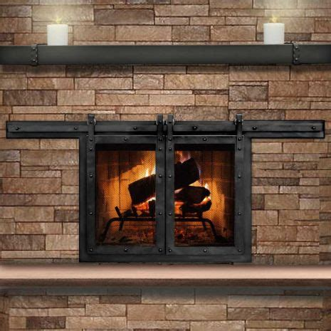 How To Use A Fireplace With Glass Doors by Best 25 Fireplace Doors Ideas On Cast