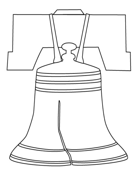 how to draw liberty bell liberty bell coloring page coloring home