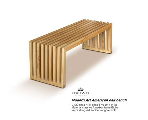 wood seating bench solid oak seating bench neuerraum