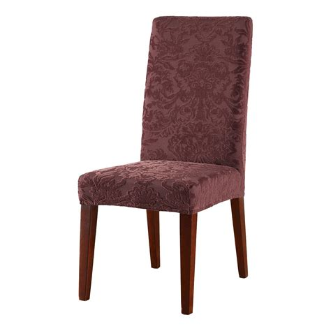 sure fit dining room chair covers stretch jacquard damask dining room chair cover