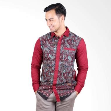 Terbaru Vm Kemeja Batik Slimfit Lengan Panjang B 188 Casual Sli jual batik lengan panjang pria terbaru harga murah blibli