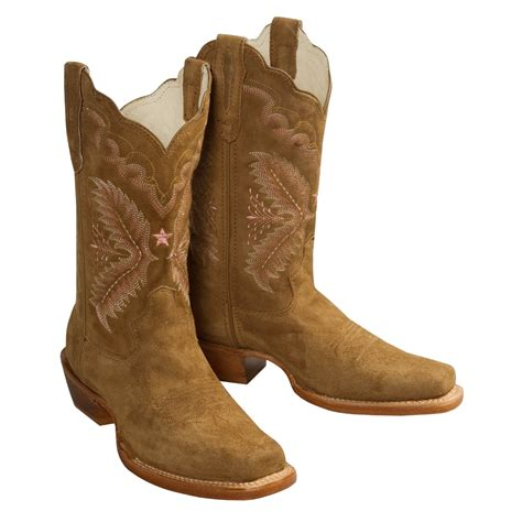 square toed cowboy boots for stetson classic suede western boots with square toe for