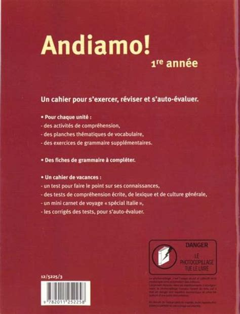 italien cahier dexercices livre italien 1 232 re ann 233 e cahier d exercices boi bourgeois gas