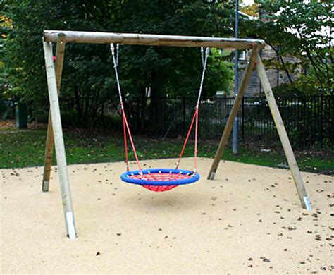 play swing inclusive play basket swing wooden swings caledonia play