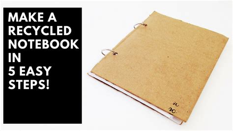 How To Make A Paper Notebook - how to make a recycled notebook in 5 easy steps