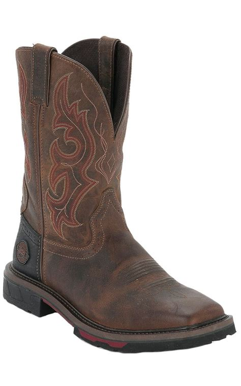 cavenders mens boots justin hybred s rugged composite square toe