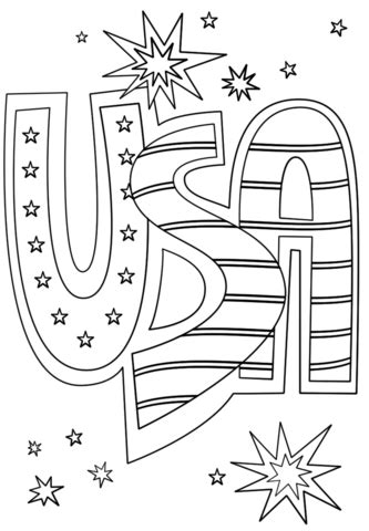 printable coloring page usa usa doodle coloring page free printable coloring pages