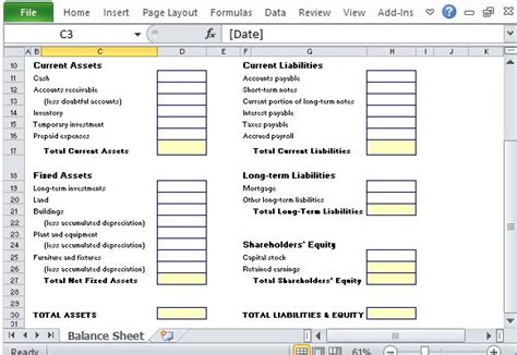 assets and liabilities template excel simple balance sheet maker template for excel