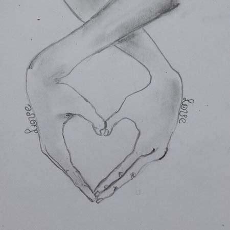 imagenes bonitos a lapiz dibujos de corazones a l 225 piz muy bonitos para descargar