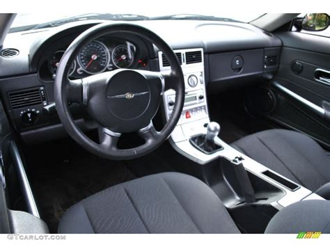 slate grey interior 2005 chrysler crossfire coupe