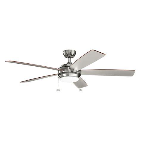 60 Inch Ceiling Fan With Light Kit by Kichler Starkk Polished Nickel 60 Inch Led Ceiling Fan